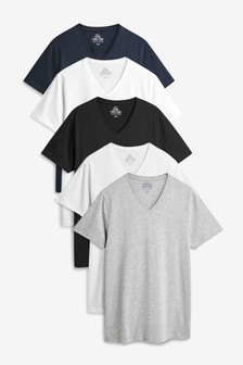 V-Neck T-Shirts Five Pack