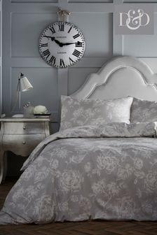 Komplet poszwa na kołdrę i poszewka na poduszkę z kwiatowym nadrukiem w stylu vintage DD Mishka – dostępne tylko w Next
