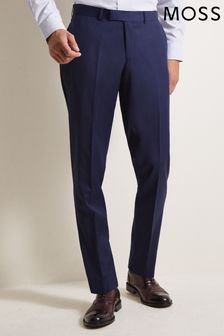 Moss 1851 Tailored Fit Navy Twill Trouser