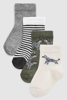 Набор из четырех пар носков «зебра» (Младшего возраста)