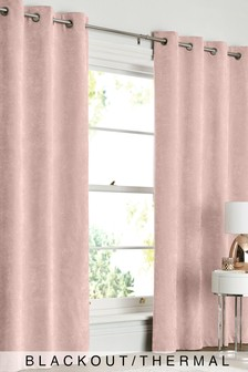 Soft Velour Eyelet Blackout/Thermal Curtains