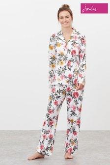 Joules Cream Sunrise Long Sleeve Pyjama Set