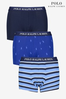 Polo Ralph Lauren® Blue Pony And Stripe Trunks Three Pack