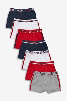 7 Pack Sporty Trunks (1.5-16yrs)