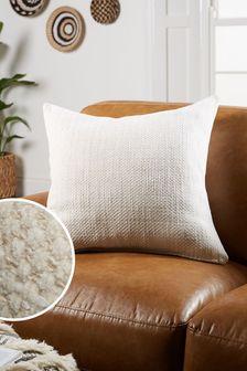 Natural Ashton Chunky Chenille Large Square Texture Cushion