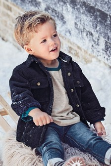 Cord Cosy Borg Lined Shacket (3mths-7yrs)