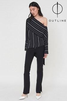 Outline Black Farrow Trouser