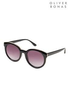 نظارات شمسية سوداء مستديرة منOliver Bonas