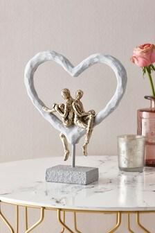 Couple Heart Sculpture