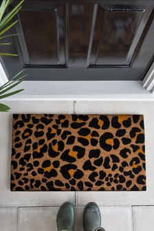 Fußmatte mit Leopardenprint