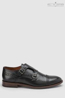 Toe Cap Leather Monk Shoes