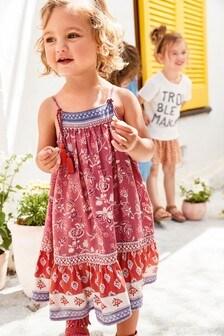 Платье макси с рисунком (3 мес.-7 лет)