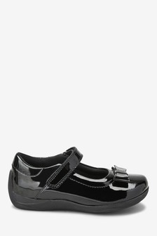 Leather Junior Bow Mary Jane Shoes
