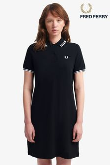 Fred Perry Black Twin Tipped Polo Dress