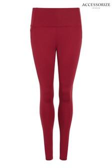 Accessorize Red Full Length Leggings