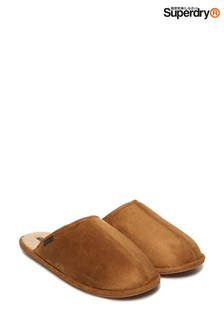 Superdry Tan Mule Sliders