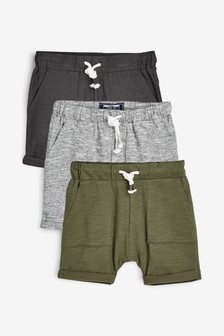 Pachet de 3 perechi de pantaloni scurți texturaţi ușori (3 luni - 7 ani)