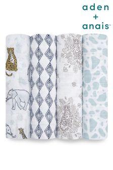 aden + anais  Jungle Large Cotton Musline 4-Pack Blanket