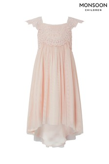 Monsoon Pale Pink Estella High Low Dress