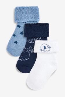 Махровые носки, 3 пары (Младшего возраста)