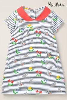 Boden Multi Printed Jersey Collared Dress
