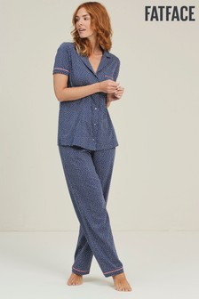 FatFace Navy Dotty Jersey Classic Lounge Pants