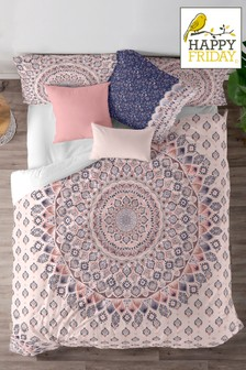 Happy Friday Exclusive To Next Ibiza Cotton Duvet Cover and Pillowcase Set
