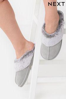 Suede Mule Slippers