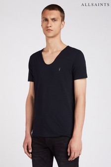 AllSaints Navy Tonic Scoop Neck T-Shirt