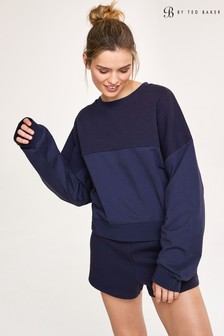 B by Ted Baker Navy Embossed Sweatshirt