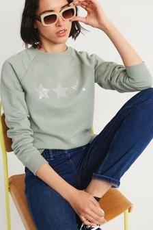 Sugar Graphic Crew Sweater