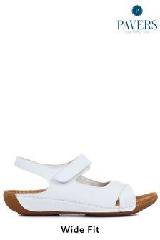 Pavers White Ladies Touch-Fasten Sandals