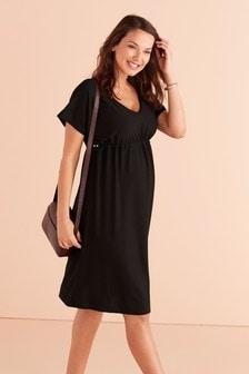 Приталенное платье для беременных