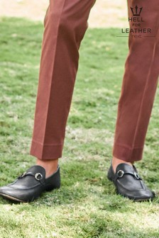 Leather Snaffle Loafers