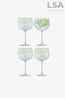 LSA International Bubble 680ml Set Of 4 Balloon Glasses
