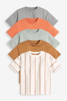 5 Pack Oversized Short Sleeve T-Shirts (3mths-7yrs)