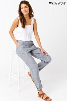 Серые льняные брюки White Stuff Maison