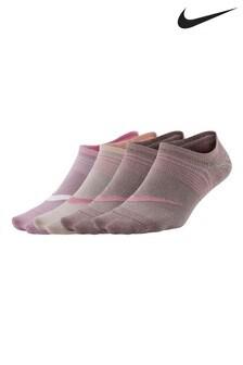 Lot de trois paires de chaussettes de sport légères Nike roses