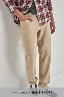 Linen Blend Jean Style Slim Fit Trousers