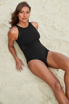Sculpt And Shape Highneck Swimsuit