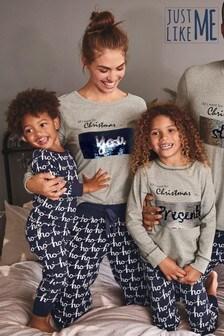 Детская пижама из коллекции для всей семьис пайетками (0 мес. - 8 лет)