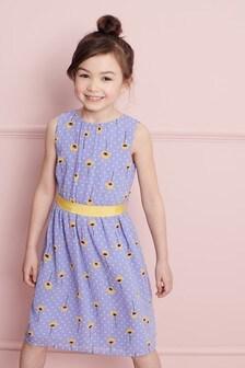 Платье с цветочным принтом (3-16 лет)