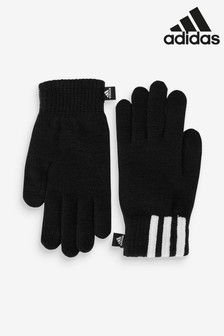 adidas Black 3 Stripe Gloves