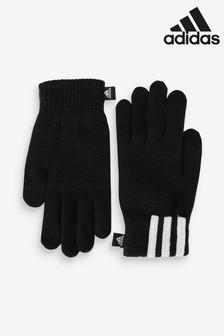 Čierne rukavice s 3 pásikmi adidas