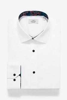 Košeľa s kontrastným lemovaním