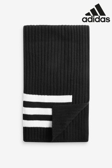 Czarny szalik z 3 paskami adidas