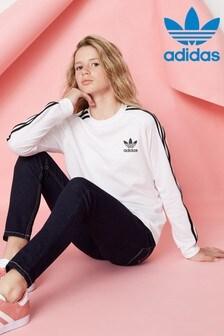 adidas Originals White Long Sleeve Cali T-Shirt