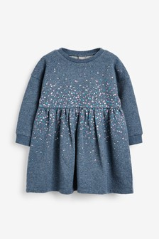 Трикотажное платье с пайетками (3 мес.-7 лет)