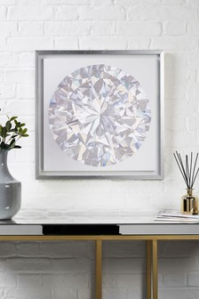 Small Diamond Framed Canvas