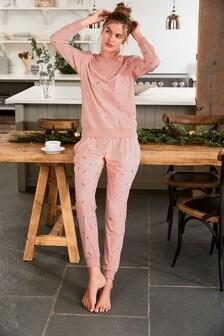 Foil Star Cosy Pyjama Set